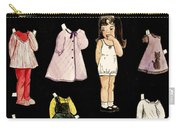 Paper Doll Amy Carry-all Pouch by Marilyn Smith