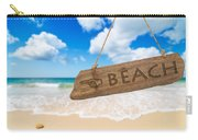 Paradise Beach Sign Algarve Portugal Carry-all Pouch