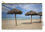 Parasols On Varadero Beach Carry-all Pouch
