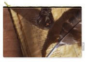 Parchment With Ink And Quill Pen Carry-all Pouch