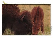 Parent With Newborn Calf Bison Carry-all Pouch