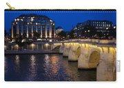 Paris Blue Hour - Pont Neuf Bridge And La Samaritaine Carry-all Pouch