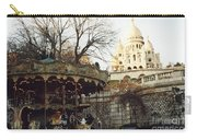 Paris Carousel Merry Go Round Montmartre - Carousel At Sacre Coeur Cathedral  Carry-all Pouch