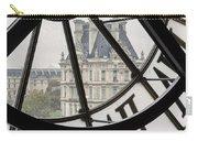 Paris Clock Carry-all Pouch