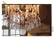 Paris Crystal Chandelier - Paris Rodin Museum Chandelier - Sparkling Crystal Chandelier Reflection Carry-all Pouch