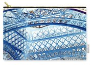Paris Design In Blue Carry-all Pouch