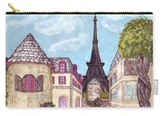 Paris Eiffel Tower Inspired Impressionist Landscape Carry-all Pouch