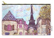 Paris Eiffel Tower Skyline Inspired Pointillist Landscape Carry-all Pouch