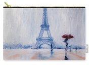 Paris In Rain Carry-all Pouch