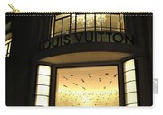 Paris Louis Vuitton Boutique Store Front - Paris Night Photo Louis Vuitton - Champs Elysees  Carry-all Pouch