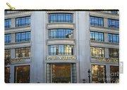 Paris Louis Vuitton Fashion Boutique - Louis Vuitton Designer Storefront In Paris Carry-all Pouch
