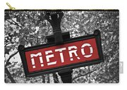 Paris Metro Carry-all Pouch by Elena Elisseeva