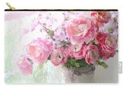 Paris Peonies Roses Shabby Chic Art - Romantic Paris Peonies And Roses Impressionistic Floral Art Carry-all Pouch