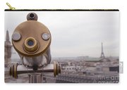 Paris Rooftops Telescope View Of Eiffel Tower - Paris Telescope Rooftop Eiffel Tower View Carry-all Pouch