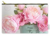 Paris Peonies Shabby Chic Dreamy Pink Peonies Romantic Cottage Chic Paris Peonies Floral Art Carry-all Pouch