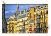 Paris Street At Sunset Carry-all Pouch by Elena Elisseeva