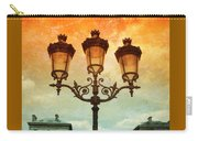 Paris Street Lamps With Textures And Colors Carry-all Pouch