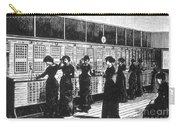 Paris Telephone Exchange, 1882 Carry-all Pouch