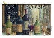 Paris Wine Tasting Carry-all Pouch by Marilyn Dunlap
