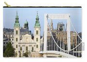 Parish Church And Elizabeth Bridge In Budapest Carry-all Pouch