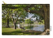 Park Bench By A Lake Carry-all Pouch