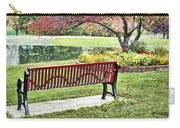 Park Bench By The Pond Carry-all Pouch