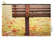 Park Bench In Autumn Carry-all Pouch by Edward Fielding