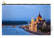 Parliament Building In Budapest At Evening Carry-all Pouch