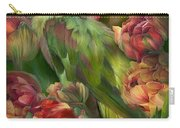 Parrot In Parrot Tulips Carry-all Pouch