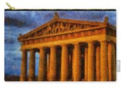 Parthenon On A Stormy Day Carry-all Pouch