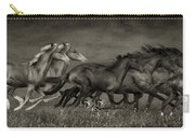Paso Peruvian Horses On The Run Carry-all Pouch
