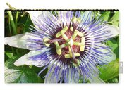 Passiflora Against Green Foliage In A Garden  Carry-all Pouch