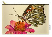 Passion Butterfly On Zinnia Carry-all Pouch