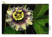 Passion Flower Carry-all Pouch by James Temple