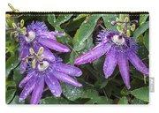 Passion Vine Flower Rain Drops Carry-all Pouch