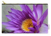 Passionate Purple Water Lily Carry-all Pouch