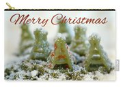 Pasta Christmas Trees With Text Carry-all Pouch