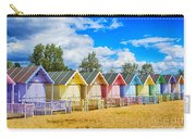 Pastel Beach Huts Carry-all Pouch by Chris Thaxter