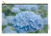 Pastel Blue Hydrangea Carry-all Pouch