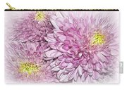 Pastel Pink Mums Carry-all Pouch