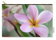 Pastel Pink Plumeria Carry-all Pouch