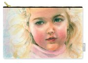 Pastel Portrait Of An Angelic Girl Carry-all Pouch by Greta Corens