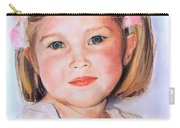 Pastel Portrait Of Girl With Flowers In Her Hair Carry-all Pouch by Greta Corens