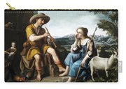 Pastoral Scene With A Shepherd Family Against A Countryside Background Carry-all Pouch