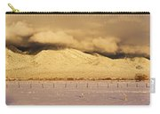 Pasture Land Covered In Snow At Sunset Carry-all Pouch
