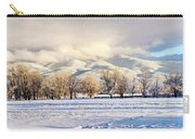 Pasture Land Covered In Snow With Taos Carry-all Pouch