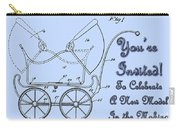 Patent Art Robinson Baby Carriage Invite-blue Carry-all Pouch