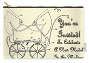 Patent Art Robinson Baby Carriage Invite Yellow Carry-all Pouch