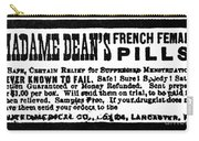 Patent Medicine, C1880 Carry-all Pouch