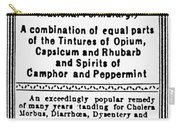 Patent Medicine: Opium Carry-all Pouch